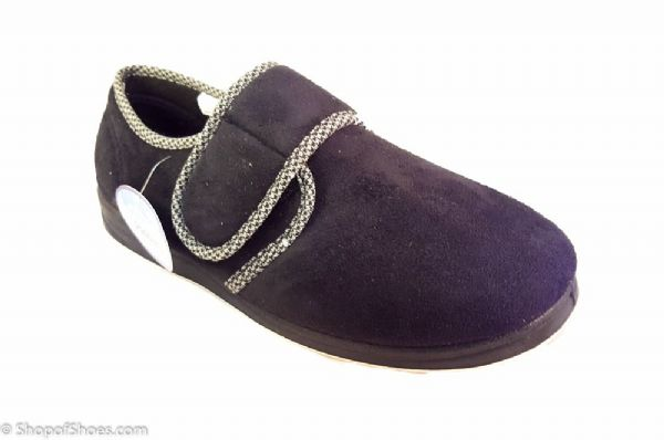 Charles, Wide fitting mens slipper available in Navy